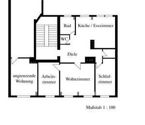 Massstab 1:100 - Traumdachgeschosswohnung in Haidhausen Comeniusstr.