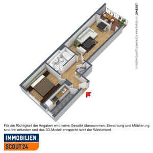 Grundriss - 2-Zi-Whg in 81243 München