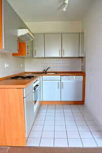 Küche mit EBK - 1-Zi-Wohnung mit sonnigem Westbalkon