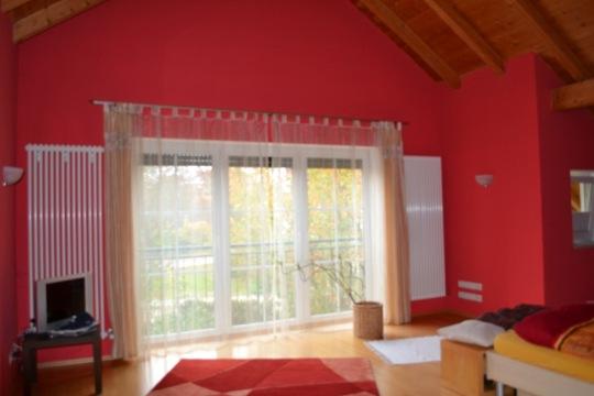 schlafzimmer mit ankleide architektenhaus in steinh ring. Black Bedroom Furniture Sets. Home Design Ideas