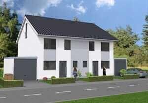 DH Eingang - Moderne Doppelhaushälfte mit schönem Südgarten in zentraler Lage von Baldham