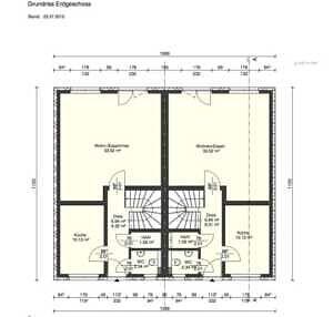 Grundriss EG - Moderne Doppelhaushälfte mit schönem Südgarten in zentraler Lage von Baldham
