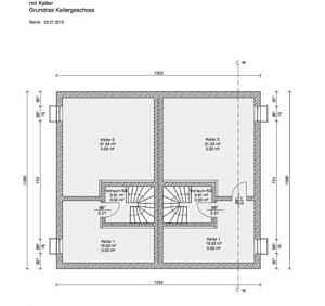 Grundriss KG - Moderne Doppelhaushälfte mit schönem Südgarten in zentraler Lage von Baldham