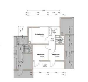 Obergeschoss Reihenmittelhaus Bestlage Baldham