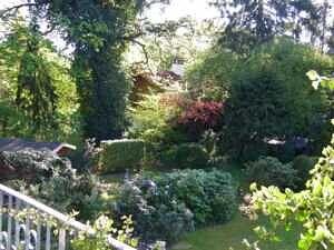Einfamilienhaus Vaterstetten Blick in den Garten, Ansicht 2