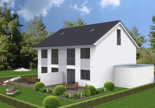 Neubau Einer Doppelhausvilla Mit Schönem Garten In Zentraler Lage