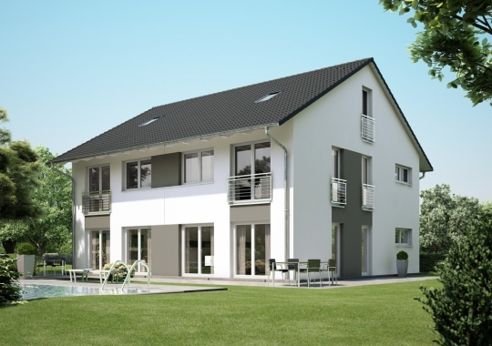 neubau einer doppelhausvilla mit sch nem garten in zentraler lage von vaterstetten cwc immobilien. Black Bedroom Furniture Sets. Home Design Ideas