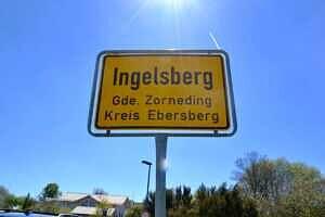 Ortsschild Ingelsberg Gde. Zorneding Kreis Ebersberg