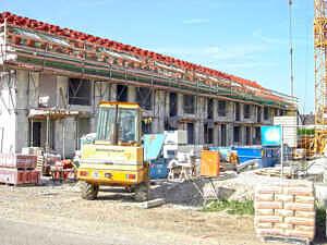 Reihenhausbaustelle in Kirchheim