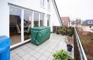 DG-Maisonette-Wohnung Gronsdorf: Nordost-Terrasse