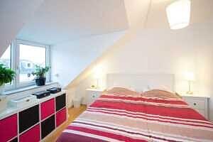DG-Maisonette-Wohnung Gronsdorf: Schlafzimmer
