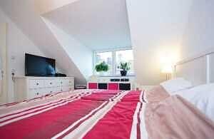 DG-Maisonette-Wohnung Gronsdorf: Schlafzimmer, Ansicht 2