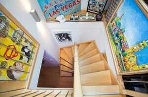 DG-Maisonette-Wohnung Gronsdorf: Treppe zur Galerie