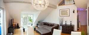 DG-Maisonette-Wohnung Gronsdorf: Wohnzimmer, Ansicht 2