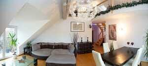 DG-Maisonette-Wohnung Gronsdorf: Wohnzimmer, Ansicht 3