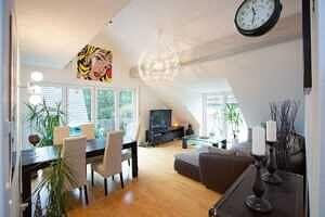 DG-Maisonette-Wohnung Gronsdorf: Wohnzimmer, Ansicht 4