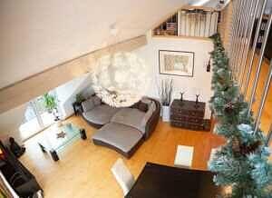 DG-Maisonette-Wohnung Gronsdorf: Wohnzimmer, Ansicht 5