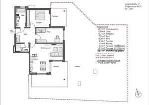 Grundriss WE 3 Garten - Erstbezug - Exklusive Erdgeschosswohnung mit 210 qm XXL Garten