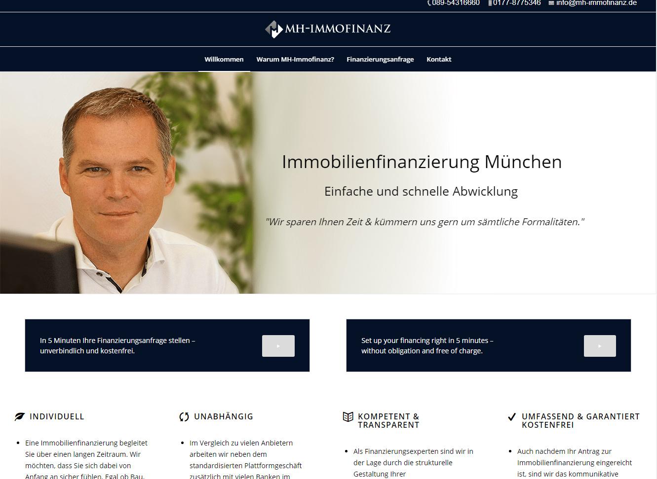 Webseite MH-Finanz